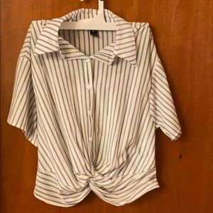 Windsor Striped button up blouse